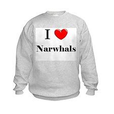 I Love Narwhals Sweatshirt