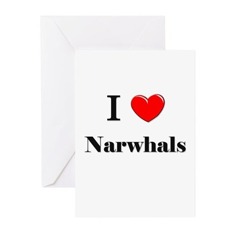 I Love Narwhals Greeting Cards (Pk of 10)