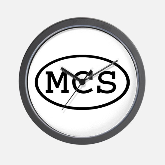 MCS Oval Wall Clock