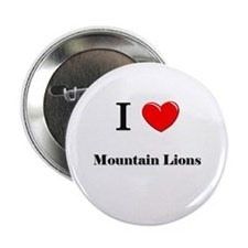 """I Love Mountain Lions 2.25"""" Button (10 pack)"""