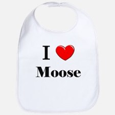 I Love Moose Bib