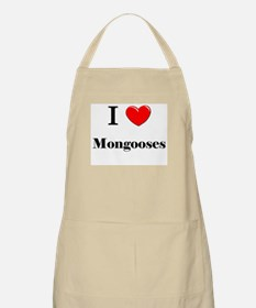 I Love Mongooses BBQ Apron