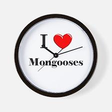 I Love Mongooses Wall Clock