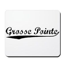Vintage Grosse Poi.. (Black) Mousepad