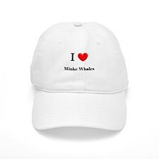 I Love Minke Whales Baseball Cap