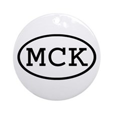 MCK Oval Ornament (Round)
