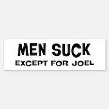 Except for Joel Bumper Car Car Sticker