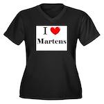 I Love Martens Women's Plus Size V-Neck Dark T-Shi