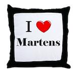I Love Martens Throw Pillow