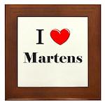 I Love Martens Framed Tile