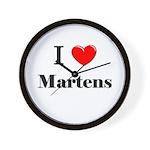 I Love Martens Wall Clock