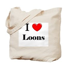 I Love Loons Tote Bag