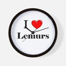 I Love Lemurs Wall Clock