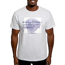 Devotion--Golden Retriever Ash Grey T-Shirt