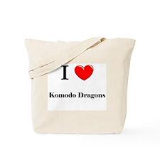 I Love Komodo Dragons Tote Bag
