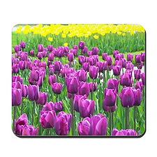 Spring Easter Tulip Blossms Mousepad