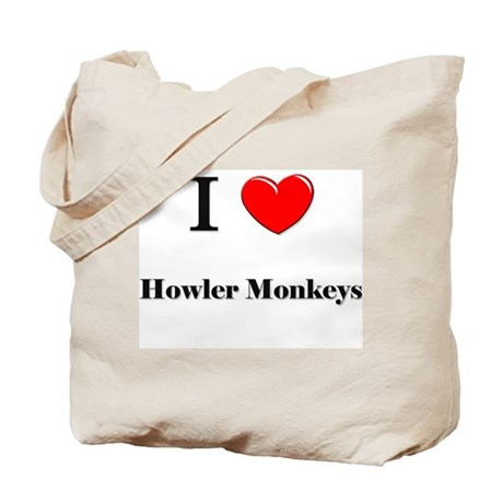I Love Howler Monkeys Tote Bag