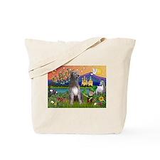 Irish Elf & Irish Wolfhound Tote Bag