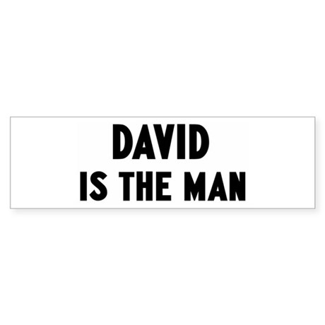 David is the man Bumper Sticker