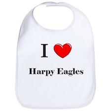 I Love Harpy Eagles Bib