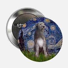 """Starry/Irish Wolfhound 2.25"""" Button"""