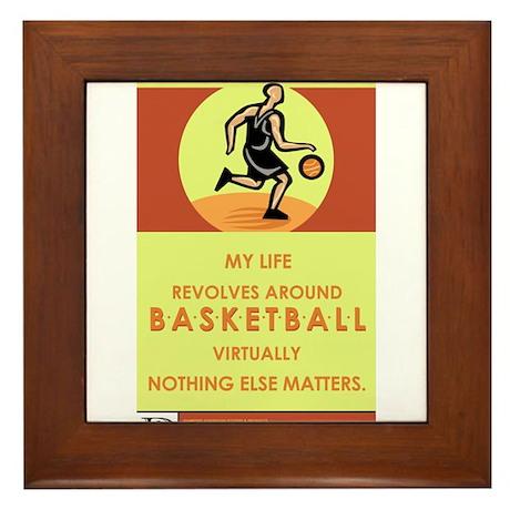 Basketball Madness Framed Tile