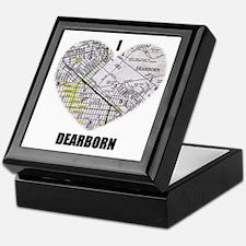 I LOVE DEARBORN (MICHIGAN) Keepsake Box