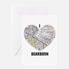 I LOVE DEARBORN (MICHIGAN) Greeting Card