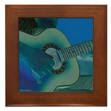 Acoustic Riffs Framed Tile