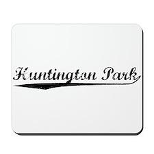 Vintage Huntington.. (Black) Mousepad