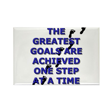 One Step at a Time Rectangle Magnet
