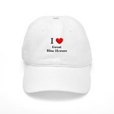 I Love Great Blue Herons Baseball Cap