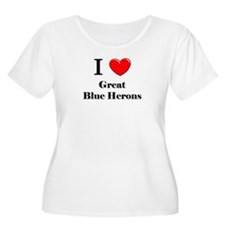 I Love Great Blue Herons T-Shirt