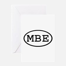 MBE Oval Greeting Card