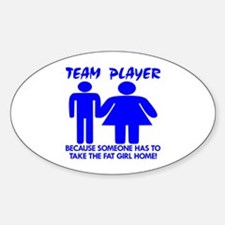 Team Player Takes Oval Decal