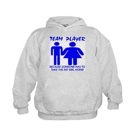 Team Player Takes Kids Hoodie