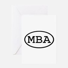 MBA Oval Greeting Card
