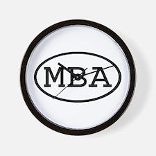 MBA Oval Wall Clock