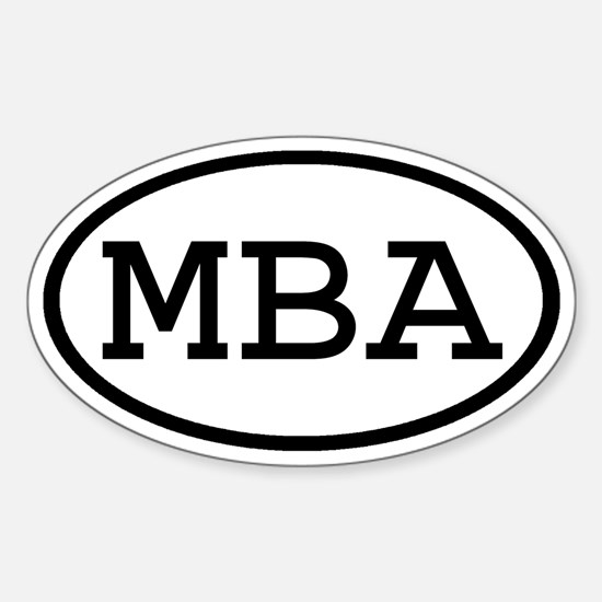 MBA Oval Oval Decal
