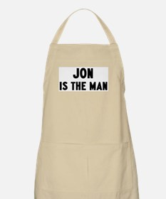 Jon is the man BBQ Apron