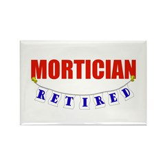 Retired Mortician Rectangle Magnet (100 pack)