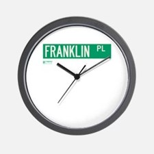 Franklin Place in NY Wall Clock