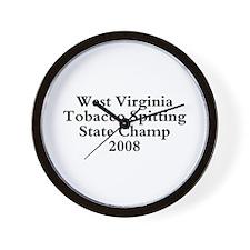 08 WVA Tob Spit Champ Wall Clock