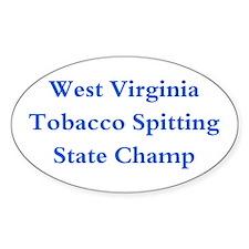 WVA Tobacco Spitting Champ Oval Decal