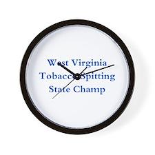 WVA Tobacco Spitting Champ Wall Clock
