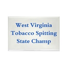 WVA Tobacco Spitting Champ Rectangle Magnet