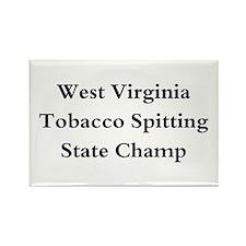 WVA Tob Spit Champ Rectangle Magnet