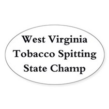 WVA Tob Spit Champ Oval Decal