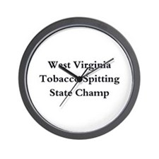 WVA Tob Spit Champ Wall Clock