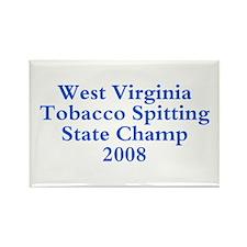 08 WVA Tob Spit Champ Rectangle Magnet
